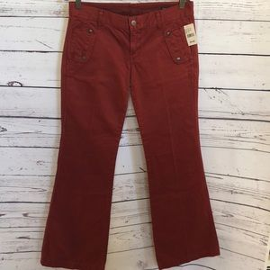 NWT CItizens of Humanity maroon flared pants